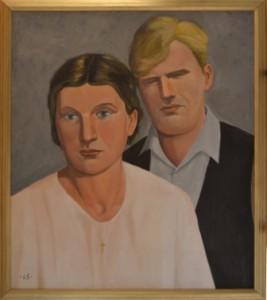 0242 (Martti Salmelan ja Laine Niemelän kihlajaiskuva)