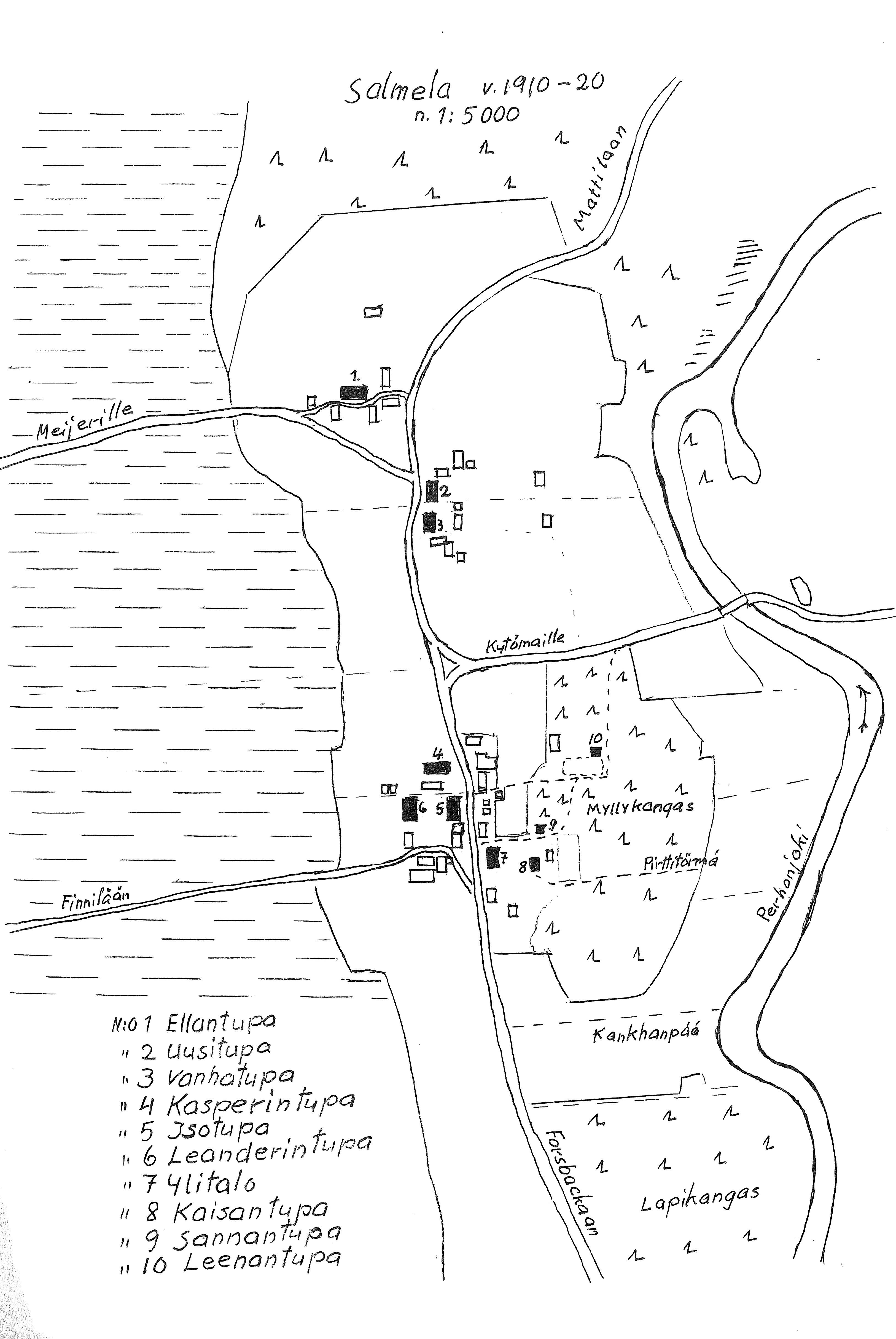 S-P-0041 - Sulo Salmela - Elämäni tilkkutäkki - Salmela 1910