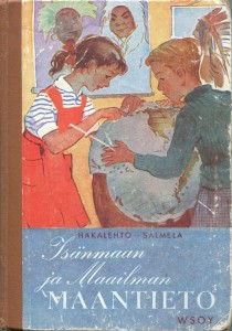 Isänmaa ja Maailman maantieto 1950 -kirjankansi