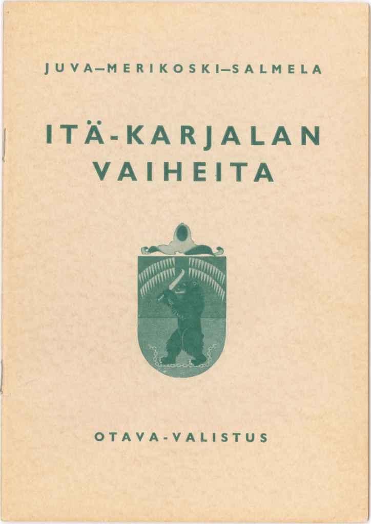 Itä-Karjalan vaiheita -kirjankansi