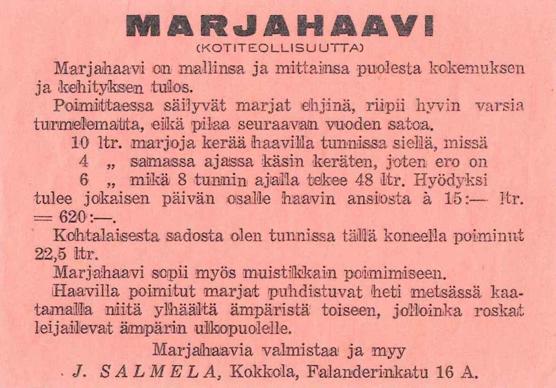 S-D-0078a Marjahaavi etiketti