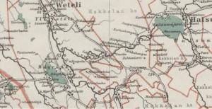 S-P-1014 - Vetelin kartta 1925 - luvulta