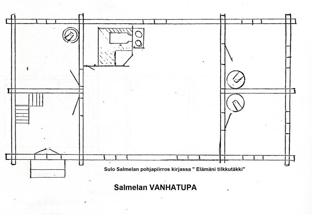 S-P-1029 - Salmelan Vanhatupa pohjapiirros