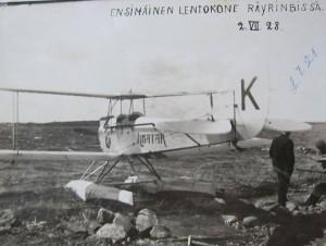 S-VK-0610W - Ilmatar - Ensimmäinen lentokone Räyringissä