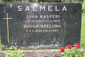S-VK-4155W - Hauta Juho Kasperi ja Ateliina Salmela Vetelissä