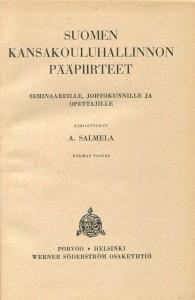 Suomen kansakoulun hallinnnon pääpiirteet -sisäsivu