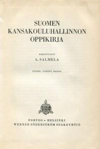 Suomen kansakoulun hallinnon oppikirja -sisäsivu