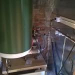 Vanha painesäiliön kaappi otettiin tekniikkahuoneeksi